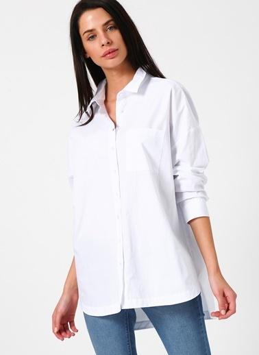 Limon Company Sırt Detaylı Gömlek Beyaz
